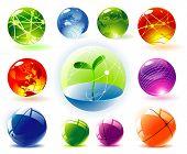 Organic vector spheres poster