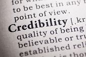 Fake Dictionary Dictionary definition of the word credibility. poster