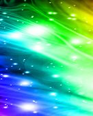 bright glitters on a soft rainbow background poster