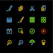 neon publish icons (raster) poster