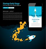 Startup Landing Webpage or Corporate Design Covers to use for web promotons, printed related materials or company presentation. Space for text. poster