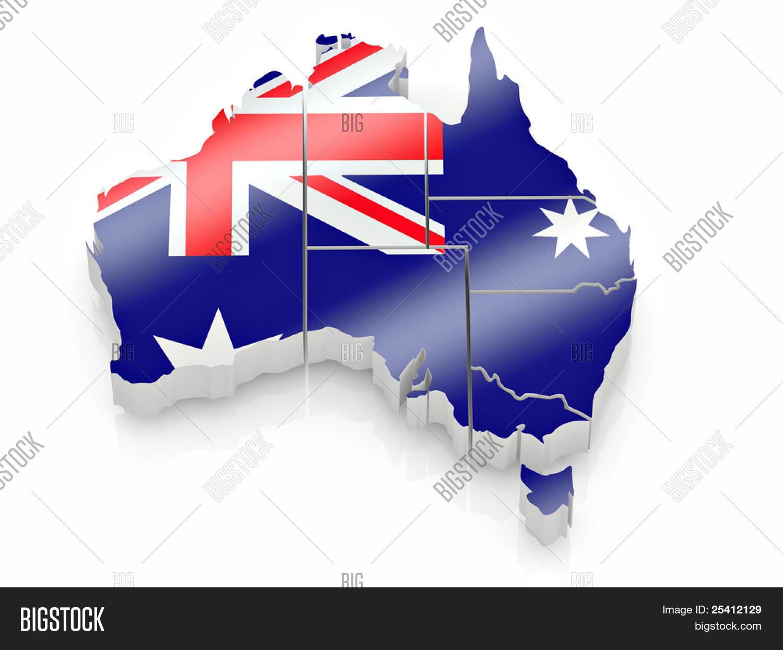 Free 3d Map Of Australia.Map Australia Image Photo Free Trial Bigstock
