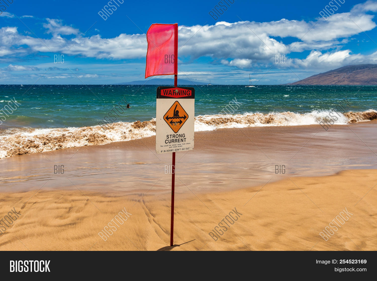 Warning Sign On Beach Image & Photo (Free Trial) | Bigstock