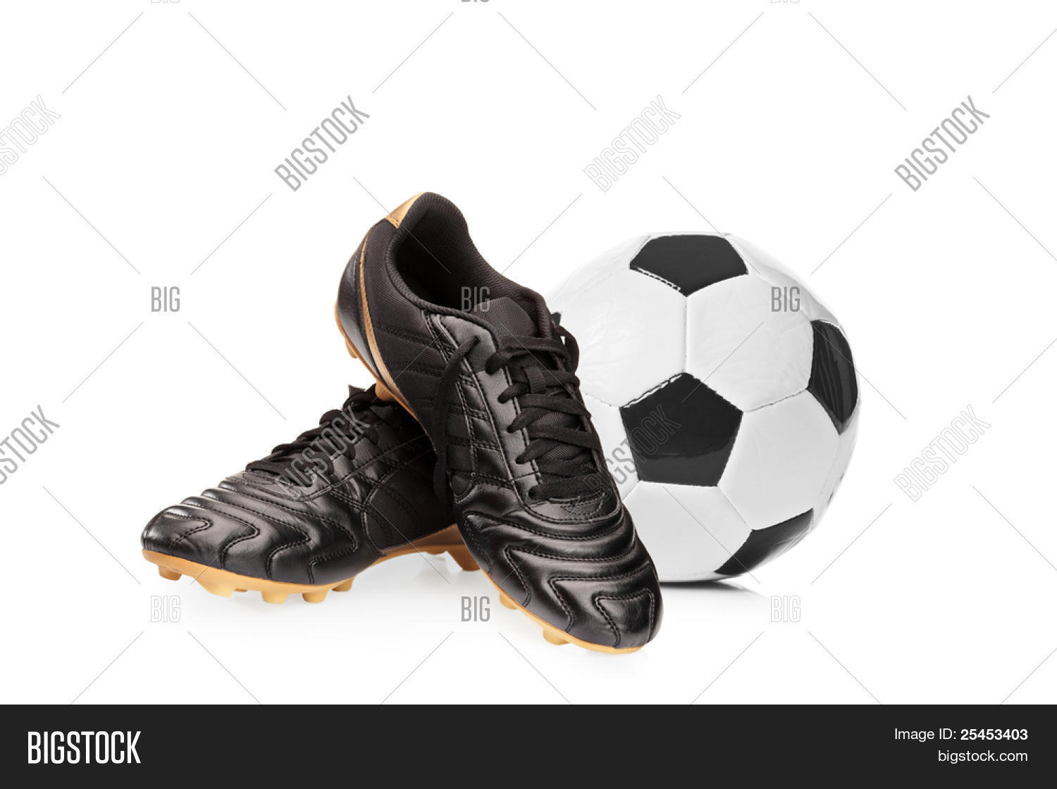 ab1d57b66b8 Football shoes and a football isolated on white background