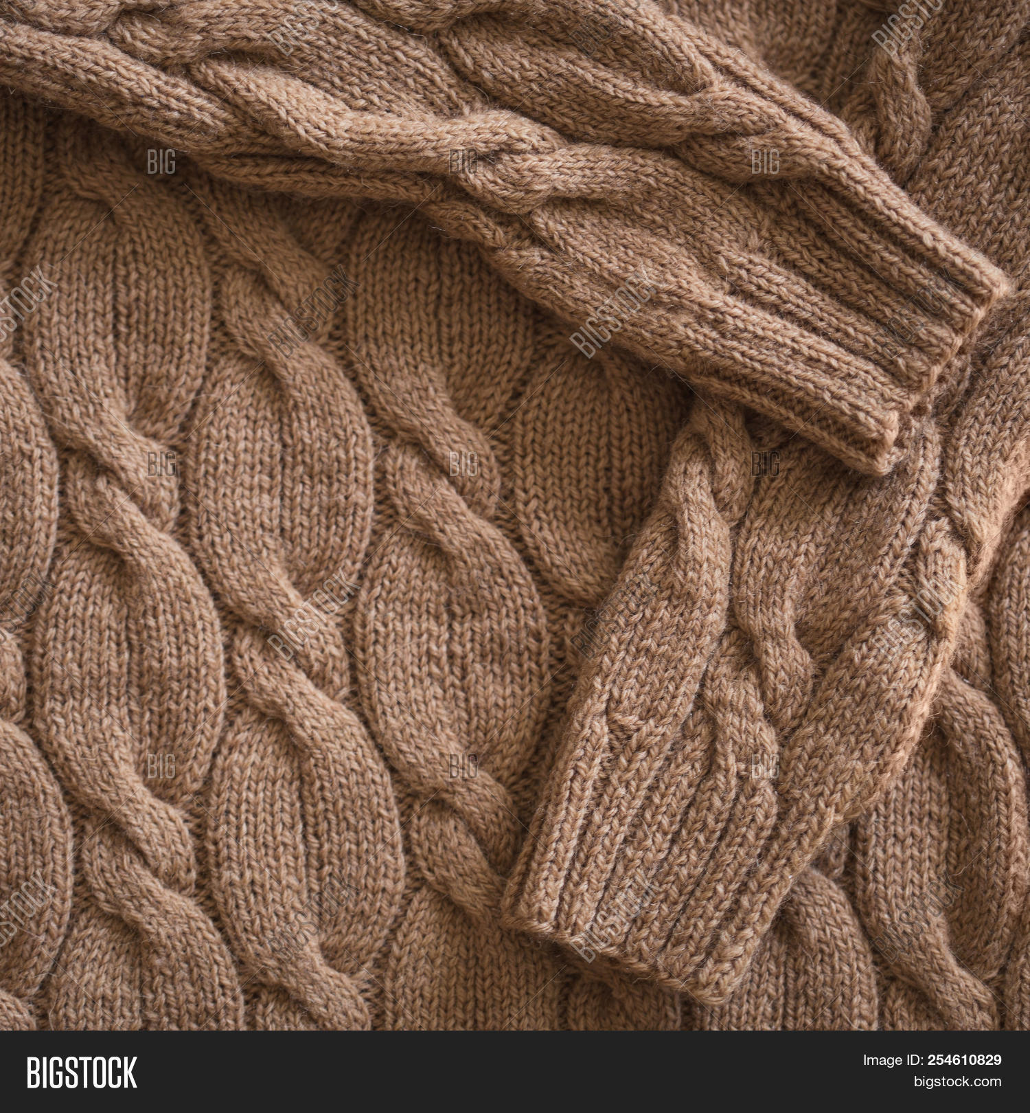 e51419d012c3 Knitted Wool Background. Sweater Closeup. Autumn-winter Concept