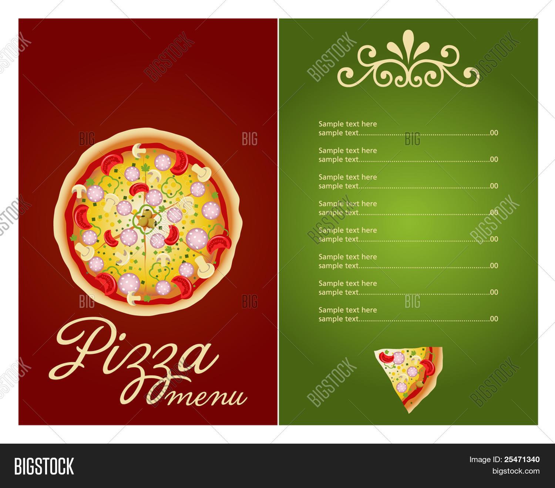 Delightful Pizza Menu Template, Vector Illustration
