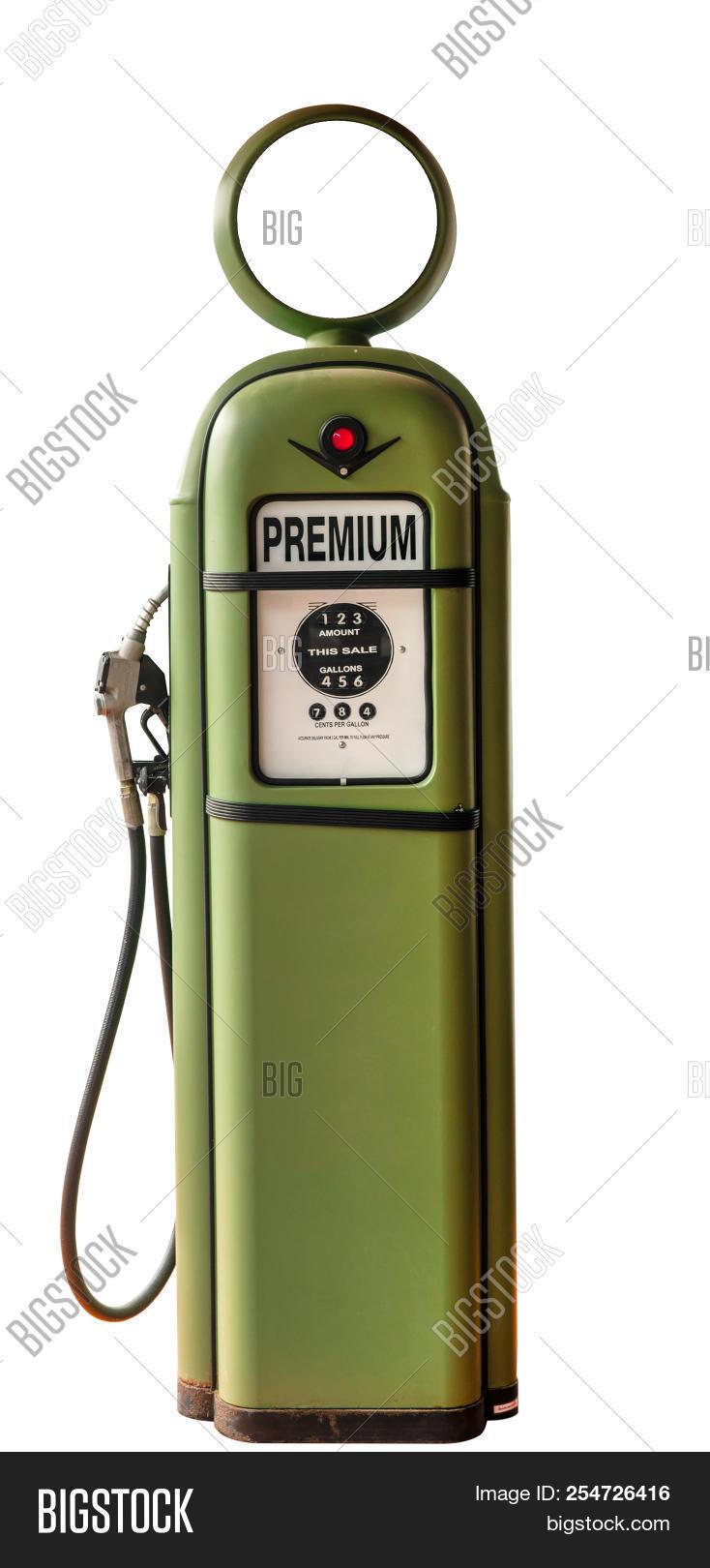 Vintage Green Gasoline Image Photo Free Trial Bigstock