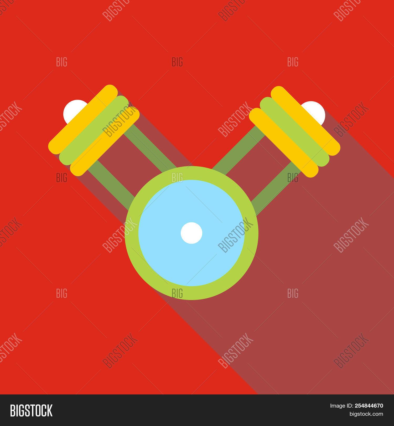 Engine Pistons On A Crankshaft Icon. Flat Illustration Of Engine Pistons On  A Crankshaft Icon