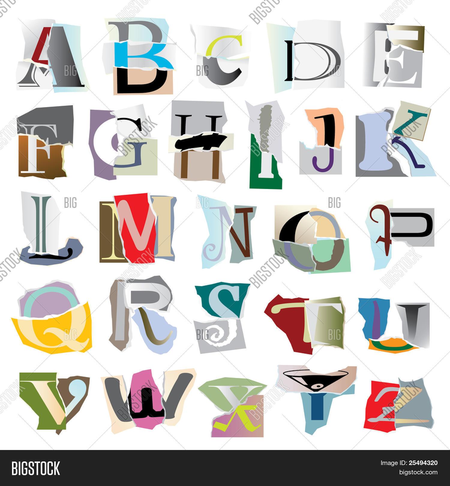 Imagen y foto Letras De Collage (prueba gratis) | Bigstock