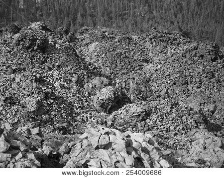 Rugged Terrain Of The Big Obsidian Flow