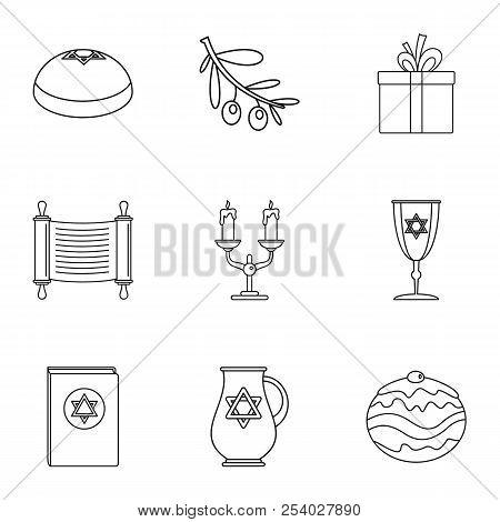 Religiosity Icons Set. Outline Set Of 9 Religiosity Vector Icons For Web Isolated On White Backgroun