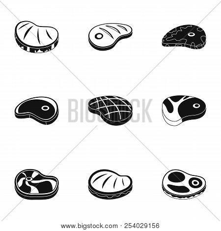 Bovine Icons Set. Simple Set Of 9 Bovine Vector Icons For Web Isolated On White Background