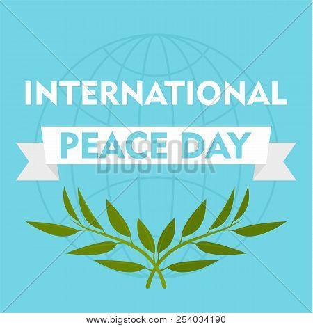 International Peace Day Blue Background. Flat Illustration Of International Peace Day Blue Vector Ba