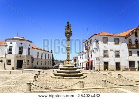 Vila Nova De Foz Coa, Portugal - June 19, 2018:  View Of The Sixteenth Century Gothic Manueline Styl