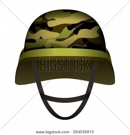 Modern Design Army Helmet Mockup. Realistic Illustration Of Modern Design Army Helmet Vector Mockup