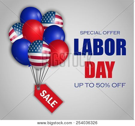 Labor Day Special Sale Concept Background. Realistic Illustration Of Labor Day Special Sale Vector C
