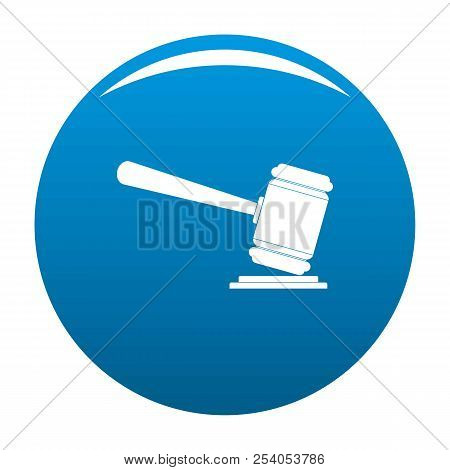Judge Gavel Icon. Simple Illustration Of Judge Gavel Icon For Any Design Blue