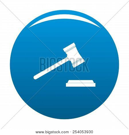 Legal Gavel Icon. Simple Illustration Of Legal Gavel Icon For Any Design Blue