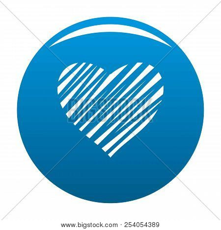 Shaded Heart Icon. Simple Illustration Of Shaded Heart Icon For Any Design Blue