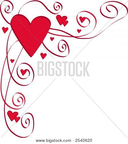 Heart Border With Swirls