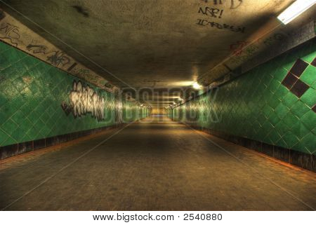Hdri Of A Long Tunnel.