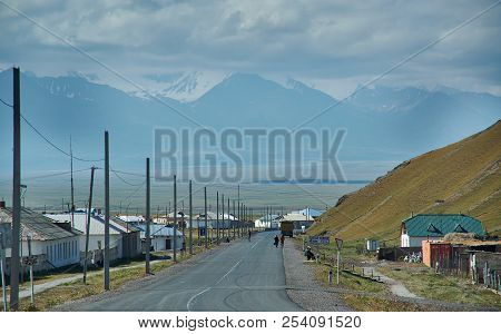 Sary-tash Village, Kyrgyzstan Chon-alai Valley. August 2, 2018 Landmark,