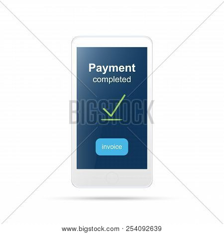Mobile Payment , Online Shopping Concept.payment Mobile Icon