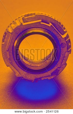 Electrical Watertight Conduit Hub, Blue And Orange
