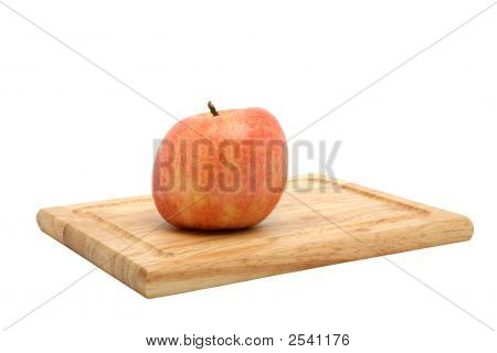 York Apple On Cutting Board
