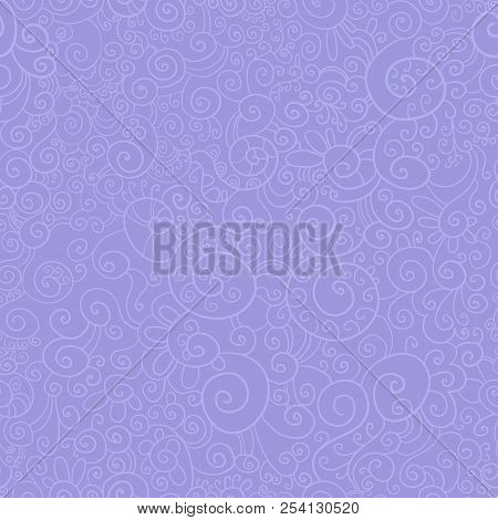 Cute Pattern Seamless Purple From Arabesques For Invitations, Diplomas, Certificates, Postcards Bann