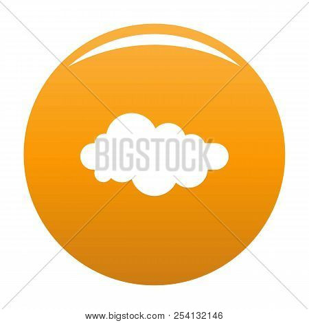 Formed Cloud Icon. Simple Illustration Of Formed Cloud Icon For Any Design Orange