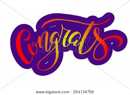 hand sketched congrats image photo free trial bigstock
