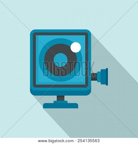 Action Camera Icon. Flat Illustration Of Action Camera Icon For Web Design