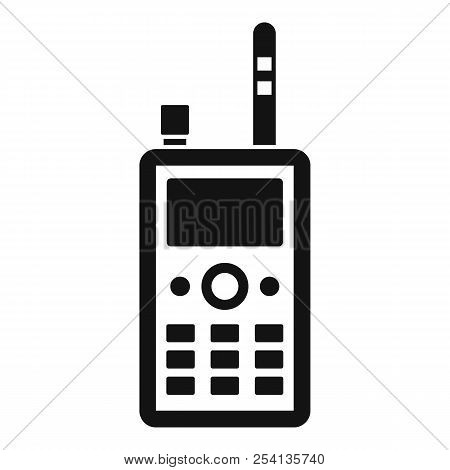 Talkie radio icon. Simple illustration of talkie radio icon for web design isolated on white background poster