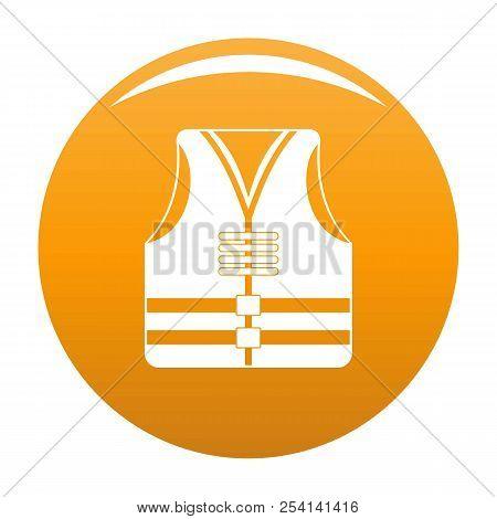 Rescue Vest Icon. Simple Illustration Of Rescue Vest Icon For Any Design Orange