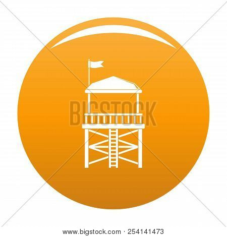 Rescue Tower Icon. Simple Illustration Of Rescue Tower Icon For Any Design Orange