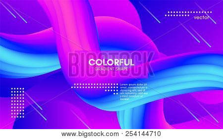 Colorful Liquid Shapes. Abstract Background With Vibrant Gradient. Modern Color Wave Liquid. Vector
