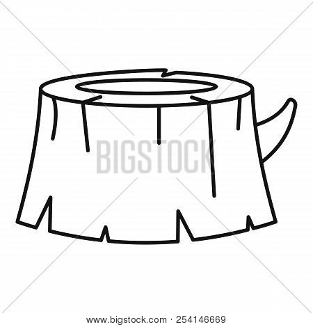 Old Tree Stump Icon. Outline Illustration Of Old Tree Stump Icon For Web Design Isolated On White Ba