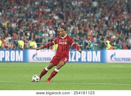 Kyiv, Ukraine - May 26, 2018: Virgil Van Dijk Of Liverpool In Action During The Uefa Champions Leagu