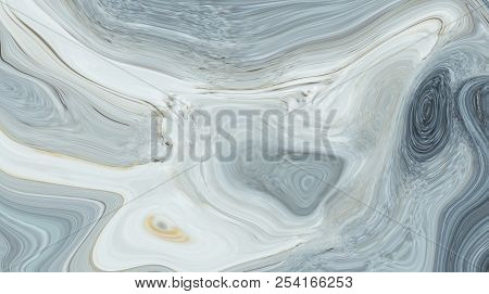 Marble Ink Colorful. Gray Marble Pattern Texture Abstract Background. Can Be Used For Background Or