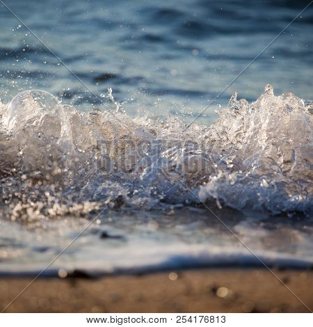 Sandy Beach Foam, Sea Splash, Sea Waves