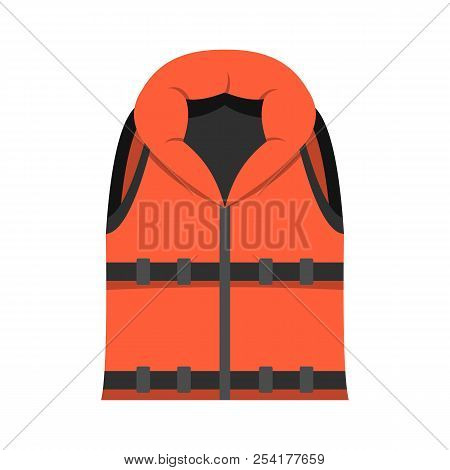 Lifeguard Vest Icon. Flat Illustration Of Lifeguard Vest Icon For Web Isolated On White