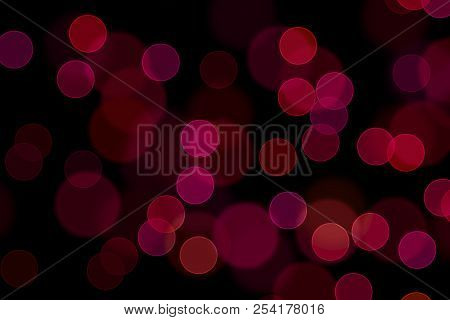 Bokeh, Digital Bokeh, Red Digital Bokeh, Abstract Background, Blurred Lights