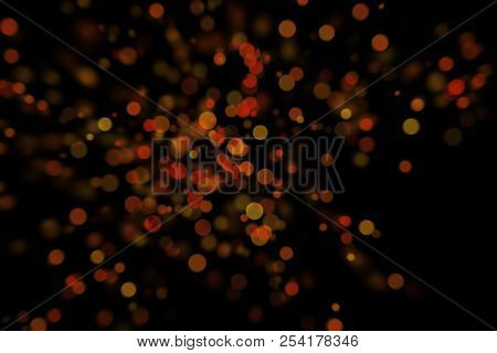 Bokeh, Digital Bokeh, Red And Yellow Digital Bokeh, Abstract Background, Blurred Lights