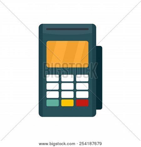Credit Card Reader Icon. Flat Illustration Of Credit Card Reader Icon For Web Isolated On White