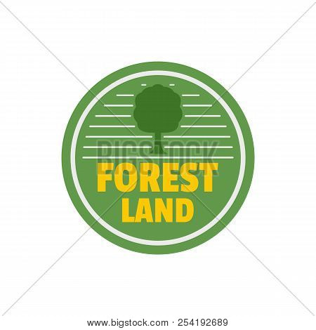 Forest New Land Logo. Flat Illustration Of Forest New Land Logo For Web Isolated On White