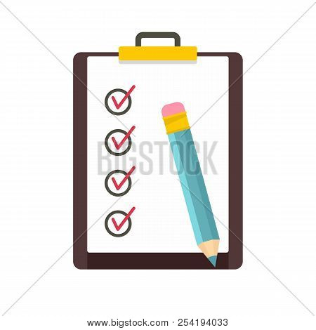 To Do List Icon. Flat Illustration Of To Do List Icon For Web Isolated On White