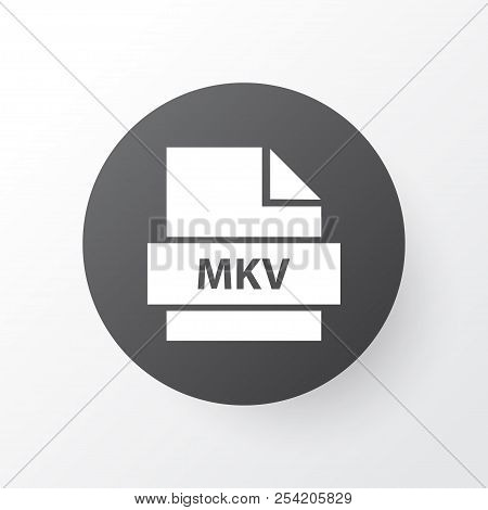 Mkv Icon Symbol. Premium Quality Isolated Multimedia Element In Trendy Style.