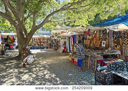 Cape Town, South Africa - March 02, 2017: Traders From Across African Continent Selling Their Wares