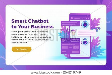 Chatbot And Future Marketing Concept. Autoresponder For The Site. Chatbot Business Concept. Dialog B